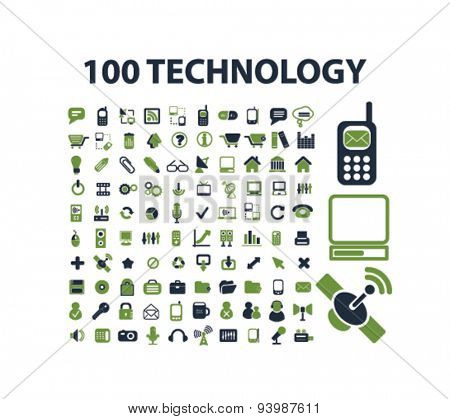 technology isolated icons, illustrations, vector