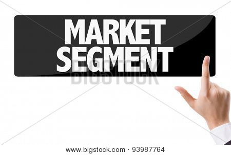 Businessman pressing button with the text: Market Segment