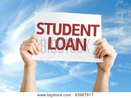Student Loan card with sky background