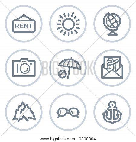 Travel Web Icons Set 5,white Circle Series