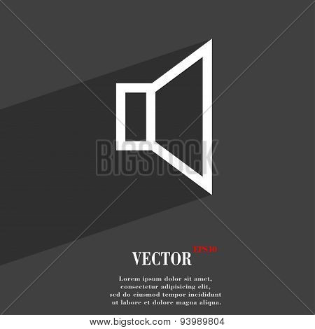 Volume, Sound  Icon Symbol Flat Modern Web Design With Long Shadow And Space For Your Text. Vector