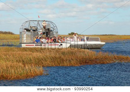 Boat on the swamp