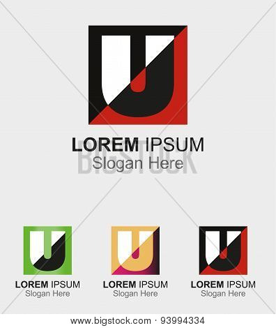 Abstract logo icon for letter U