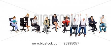 Busy Staff Isolated Group