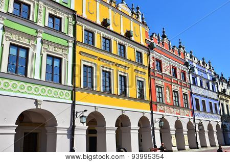 Bright colorful historic buildings