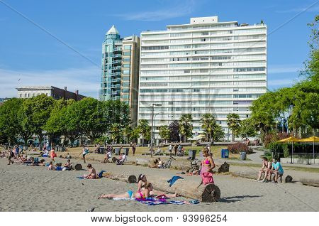Beach at English Bay in Vancouver, British Columbia