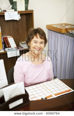 Friendly Store Clerk Or Secretary