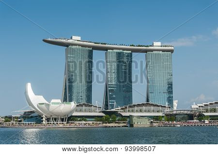 The Marina Bay Sands Resort Hotel in Singapore.