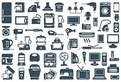 foto of tv sets  - Set of icons of different home appliances - JPG