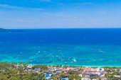 foto of deserted island  - aerial view of Boracay island - JPG