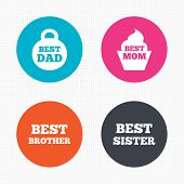 pic of brother sister  - Circle buttons - JPG
