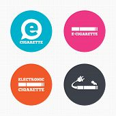 pic of electronic cigarette  - Circle buttons - JPG
