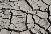picture of loam  - Ground dried by the sun covered with cracks - JPG