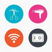 image of barbershop  - Circle buttons - JPG