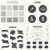 picture of handicapped  - Seamless patterns - JPG
