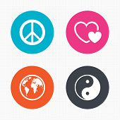 picture of peace-sign  - Circle buttons - JPG
