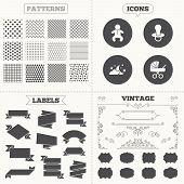 stock photo of buggy  - Seamless patterns - JPG