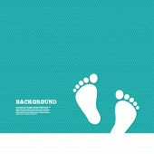 stock photo of barefoot  - Background with seamless pattern - JPG