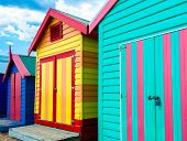 pic of beach hut  - Bathing houses at Brighton Beach Australia - JPG