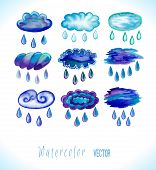 pic of raindrops  - Clouds with raindrops - JPG