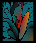 image of fantastic  - Fabulous surround fantastic artistic collage with twigs and leaves - JPG