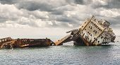 pic of shipwreck  - The sunken shipwreck on the reef Red Sea in Egypt - JPG