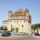 stock photo of chateau  - Lausanne Saint - JPG