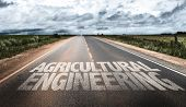 foto of genetic engineering  - Agricultural Engineering written on rural road - JPG