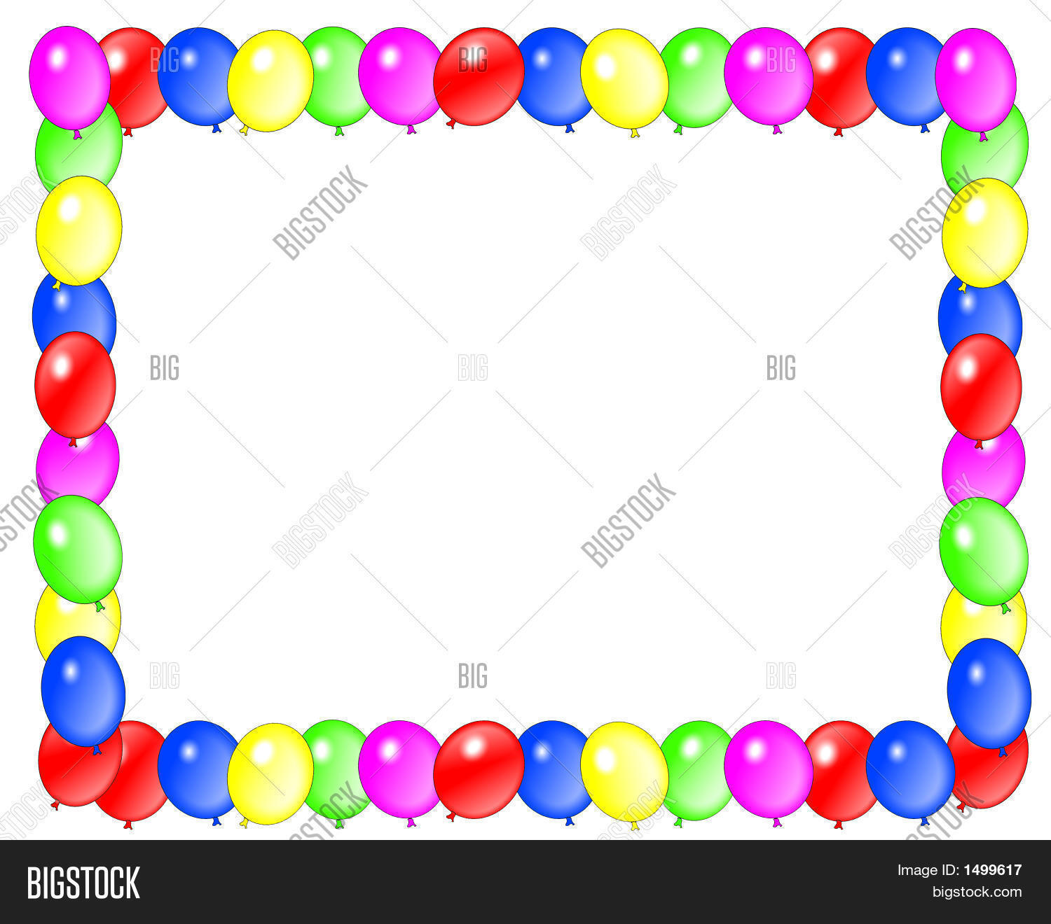 Party Balloon Frame Horizontal Stock Photo & Stock Images ...