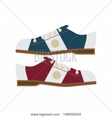 pair of bowling shoes on a white background