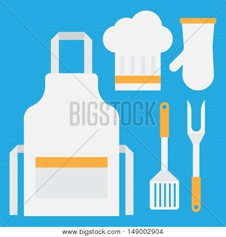 BBQ grill tools and cooking. Grill tools preparation item cutlery household supplies.
