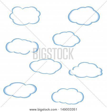 Cloud Icon Vector. Cloud symbols. Cloudy sky