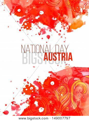 National Day in Austria. Vector illustration festive banner flag