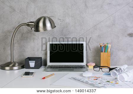 Blank Laptop Display