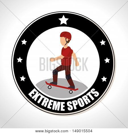 skateboarding extreme sports Badge Stamp. colorful design. vector illustration