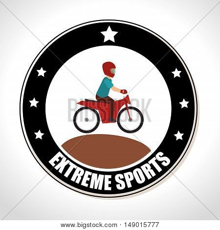 motocross extreme sports Badge Stamp. colorful design. vector illustration