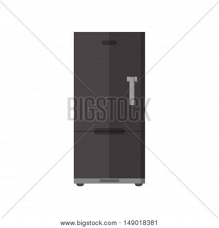 flat design single fridge icon vector illustration