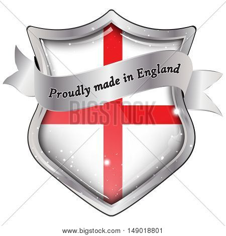 Proudly made in England - Elegant business shield-shaped