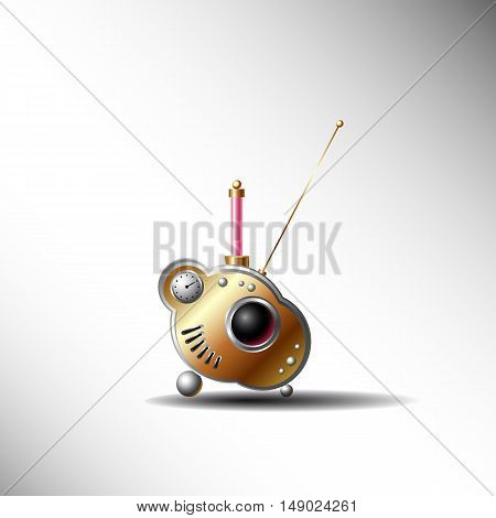 mysterious radio, vector illustration for web design and printing