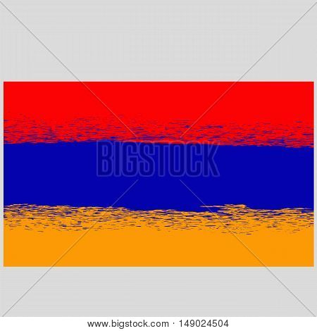 Grunge Flag of Armenia. Armenian Symbol of Independence.