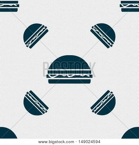 Hamburger Icon Sign. Seamless Pattern With Geometric Texture. Vector