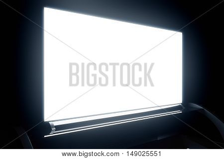 Illuminated Tv Screen Closeup