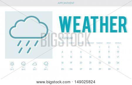 Weather Forecast Rainy Cloud Concept