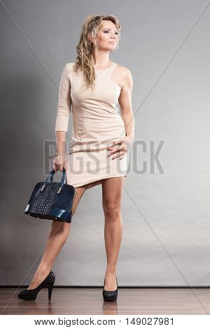 Confident Woman With Bag.