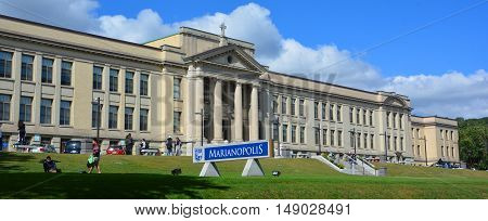 MONTREAL QUEBEC CANADA 09 22 2016: Marianopolis College is Quebec only private English-language pre-university college. Located in Westmount, Quebec, Canada