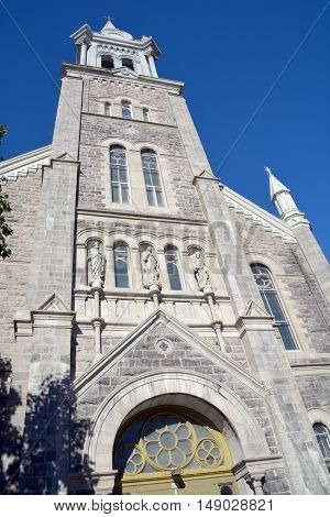 MONTREAL QUEBEC CANADA 09 23 2016: Church of Immaculate Conception, Parc Lafontaine, Montreal