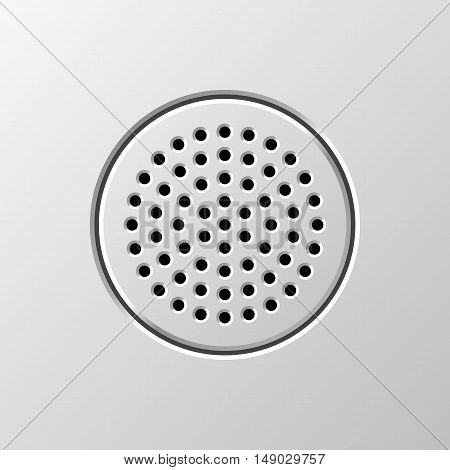 Abstract audio speaker template, dynamic with perforated grill pattern for design concepts