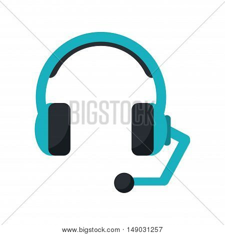 Headphone icon. Call center and technical service theme. Isolated design. Vector illustration
