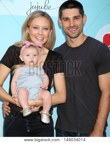 LOS ANGELES - SEP 24:  Melissa Ordway, Olivia Christine Gaston, Justin Gaston at the 5th Annual Red Carpet Safety Awareness Event at the Sony Picture Studios on September 24, 2016 in Culver City, CA