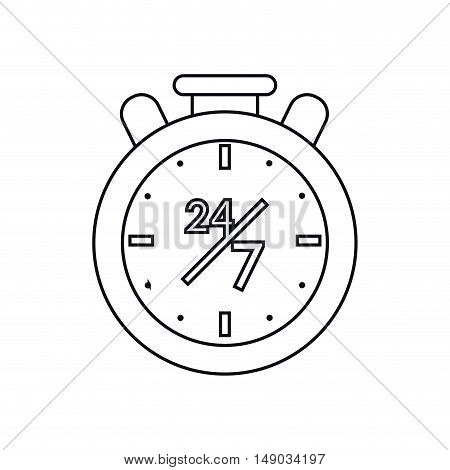 Chronometer icon. Call center and technical service theme. Isolated design. Vector illustration